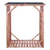 Kaminholzregal IMPRÄGNIERT für bis zu 1,15 m³ Brennholz