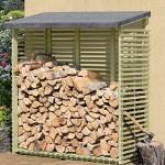 Kaminholzregal mit Rückwand für 1,5 m³ Holz von Gartenpirat®