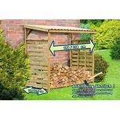 Gartenpirat Kaminholzunterstand Exklusiv für ca. 2 m³ Brennholz