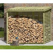 XXL Brennholzregal mit Rückwand für 4,5 m³ Holz