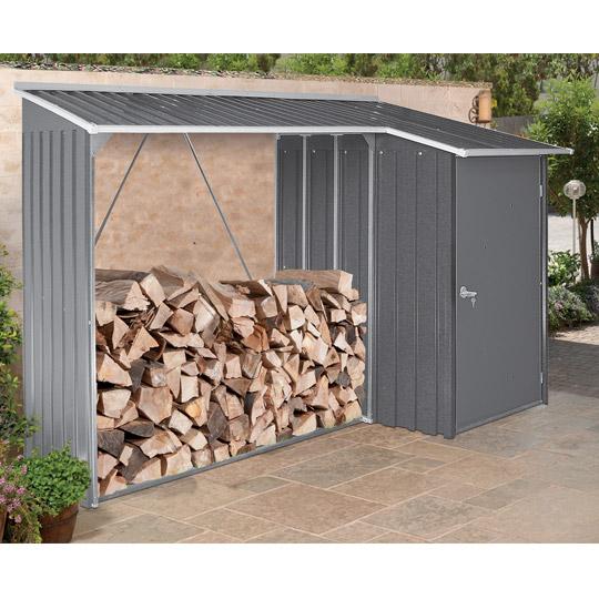 Brennholzregal außen  Kaminholzregale für den Außenbereich - Kaminholzregal-Profi