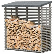 Kaminholzregal mit Rückwand für 1,8 m³ Brennholz - von Gartenpirat